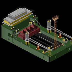 整平船模型