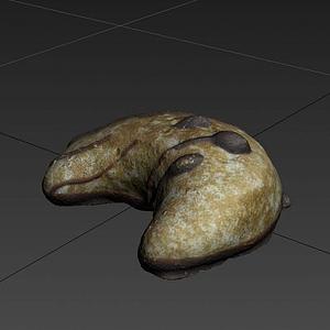 游戲食物面包模型