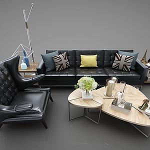 現代沙發組合模型