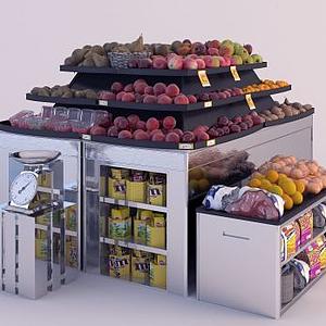 水果攤模型