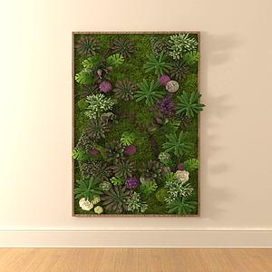 綠植墻模型