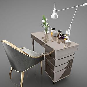 3d現代風格辦公桌模型