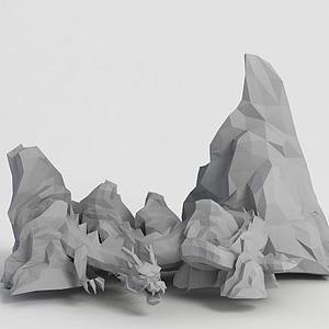 游戲龍造型假山模型