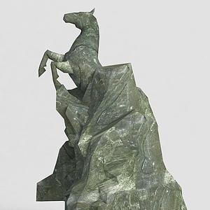 洪荒游戲雕塑馬模型