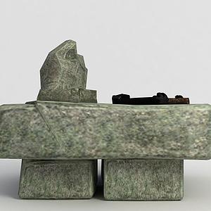 洪荒游戲石頭桌子模型