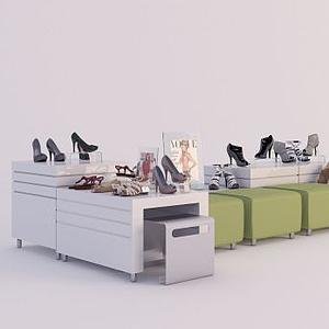 鞋店物品陳設模型