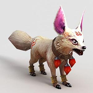 洪荒游戲白狐模型