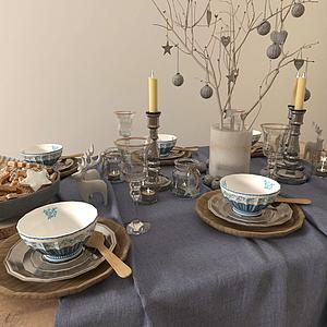 歐式經典餐具模型