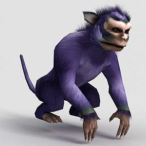 洪荒游戲白玉猿模型