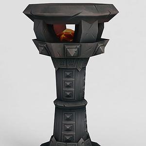 魔獸世界游戲燈柱模型