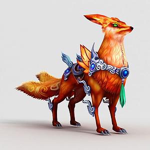 洪荒游戏红狐狸3d模型
