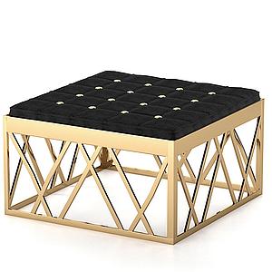現代簡約四方凳模型