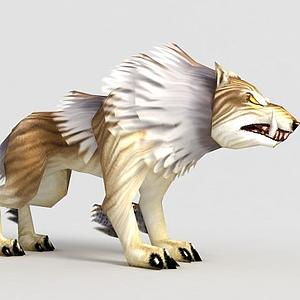 洪荒游戲巨狼模型