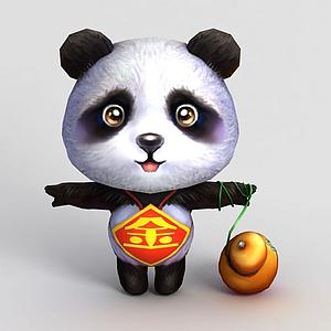 3d洪荒游戲<font class='myIsRed'>熊貓</font>模型