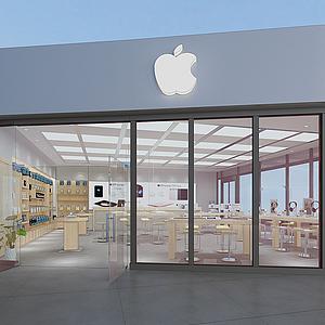 3d門頭招牌蘋果體驗<font class='myIsRed'>店</font>模型