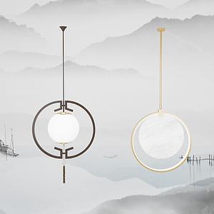 中式吊燈模型