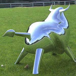 雕塑牛模型