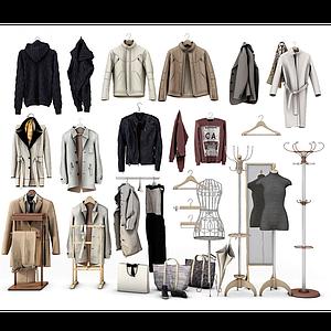 服飾組合模型