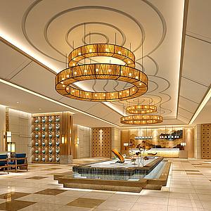 酒店大堂模型