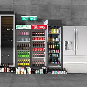 超市冰柜模型
