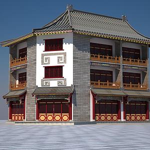仿古建筑模型