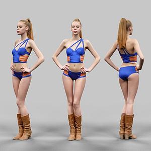 外國美女模型