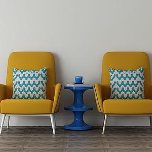 家具飾品組合沙發椅模型