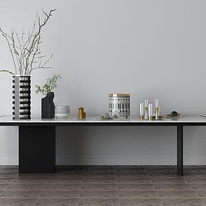 家具飾品組合桌子模型