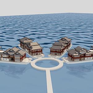 3d建筑景觀模型
