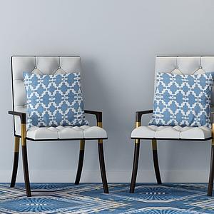 家具飾品組合休閑椅模型