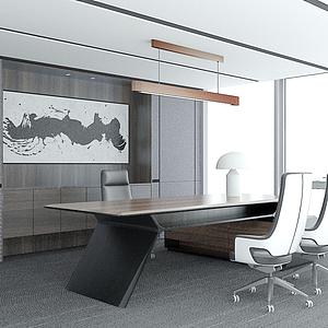 現代辦公室模型