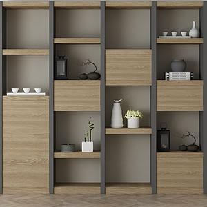 家具飾品組合架子模型