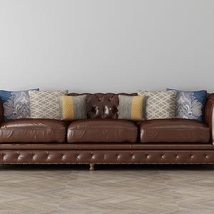 家具飾品組合沙發模型