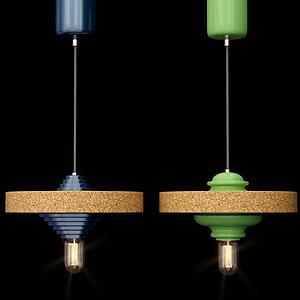 現代陀螺吊燈模型