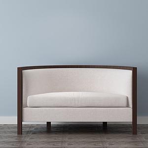 家具飾品組合小沙發模型