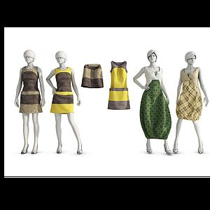 3d服飾組合模型