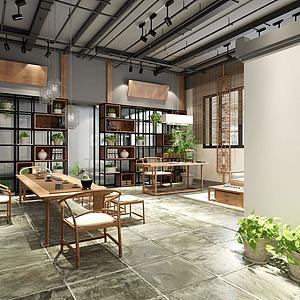 中式風格客廳模型