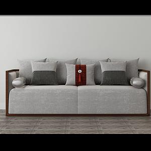 家具飾品組合中式沙發模型