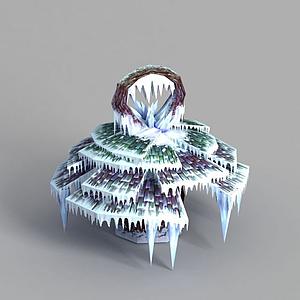 游戲場景冰掛裝飾模型