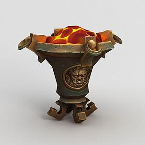 魔獸世界游戲場景裝飾模型