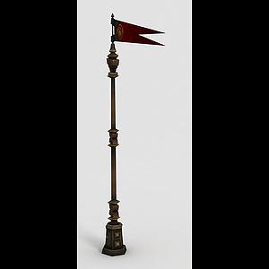 魔獸世界旗幟模型