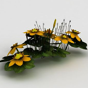 魔獸世界游戲場景花卉裝飾模型