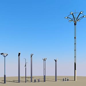 景觀燈路燈模型