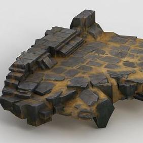 3d手绘写实<font class='myIsRed'>石头</font>地面模型