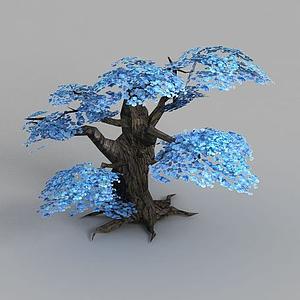魔獸世界游戲場景樹木裝飾模型