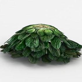 3d魔獸世界灌木花從裝飾模型
