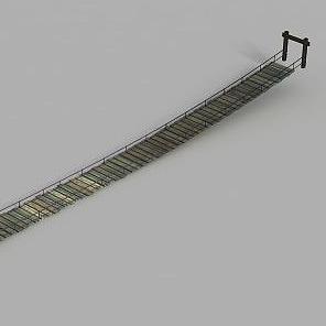 動漫場景吊橋模型