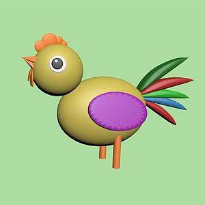 公雞泥塑玩具模型