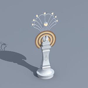 傣族景觀燈模型