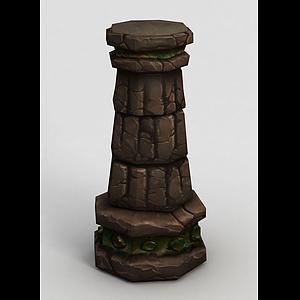 魔獸世界柱子模型